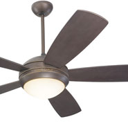 Fans monte carlo discus 5 blade 52inch contemporary modern ceiling fan