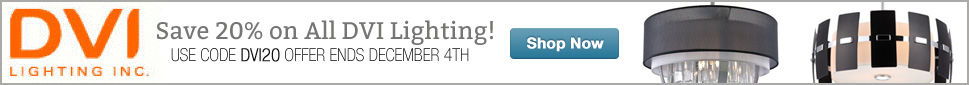 Save 15% on All DVI Lighting until December 6th!