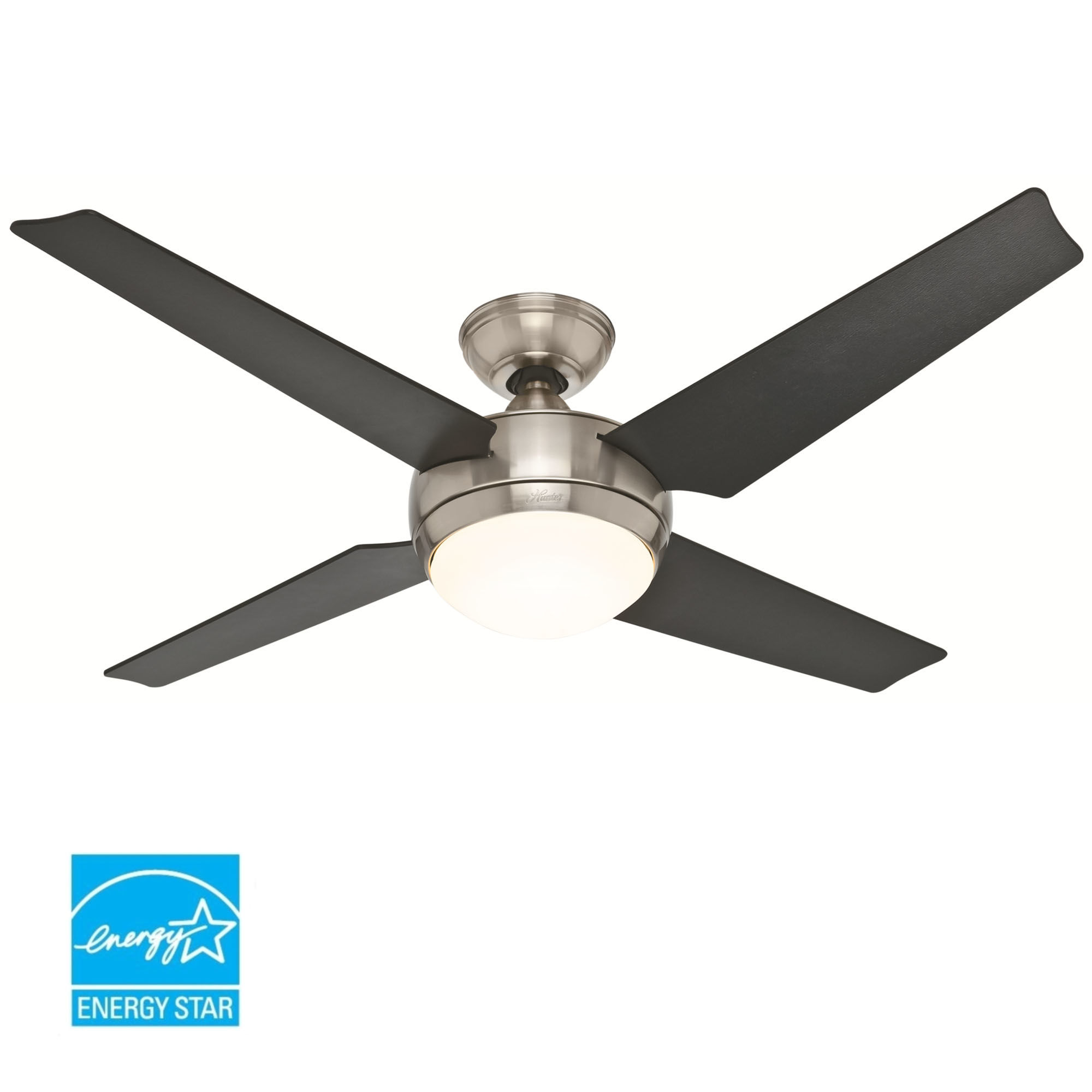 Hunter 52quot Low Profile Hugger Ceiling Fan W Light