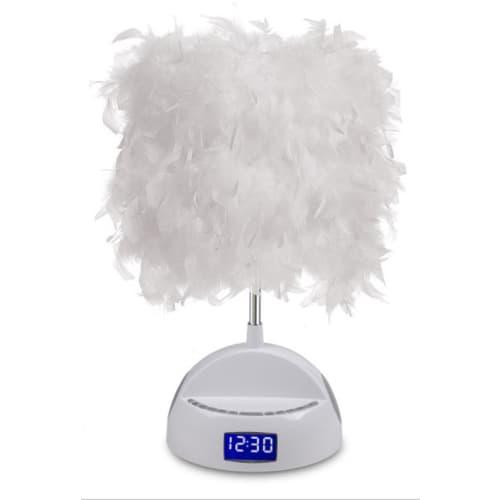 All the Rages LS1011 LighTunes 1 Light White Bluetooth Speaker Desk