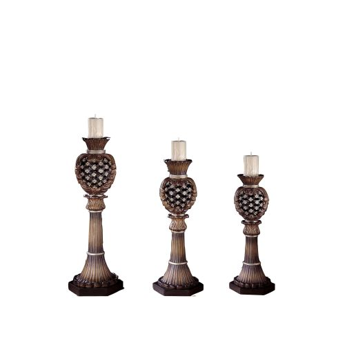 Ambience AM 40834 Traditional/Classic Candle Holders with Tuscan