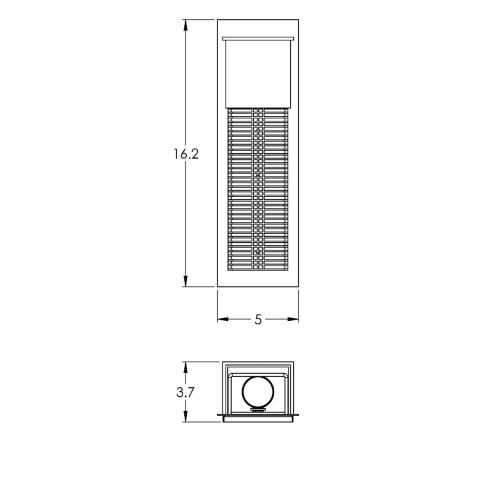 "Hammerton Studio ODB0040-16-M2 Outdoor Single Light 16"" High Flush Sale $695.00 ITEM: bci2960879 ID#:ODB0040-16-TB-XX-G1 :"