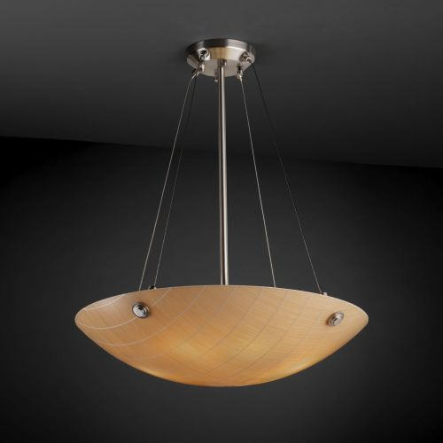 "Justice Design Group 3FRM-9662-35-TAKE-F6 3Form 24"" Round Bowl Pendant"