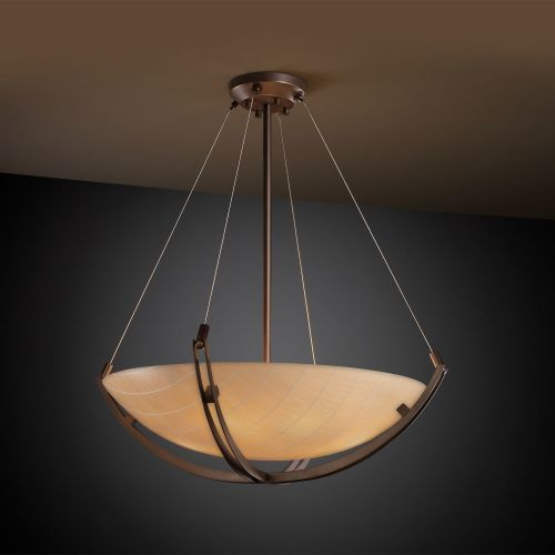 "Justice Design Group 3FRM-9722-35-TAKE 3Form 24"" Round Bowl Pendant"