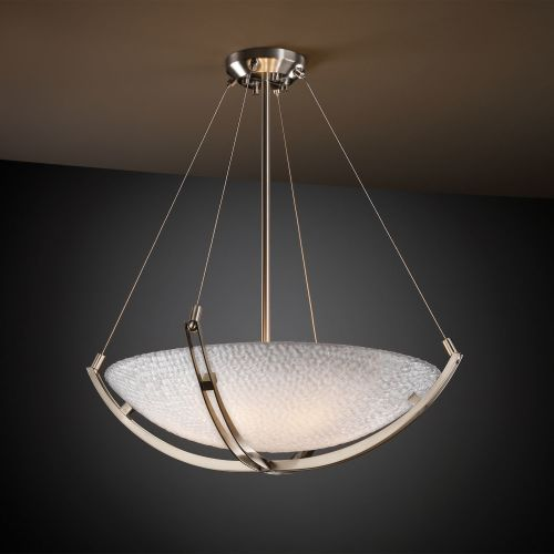 "Justice Design Group 3FRM-9722-35-TILE 3Form 24"" Round Bowl Pendant"