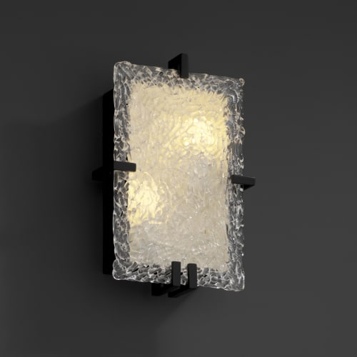 Justice Design Group GLA-5551 Clips 2 Light Rectangle Wall Sconce from