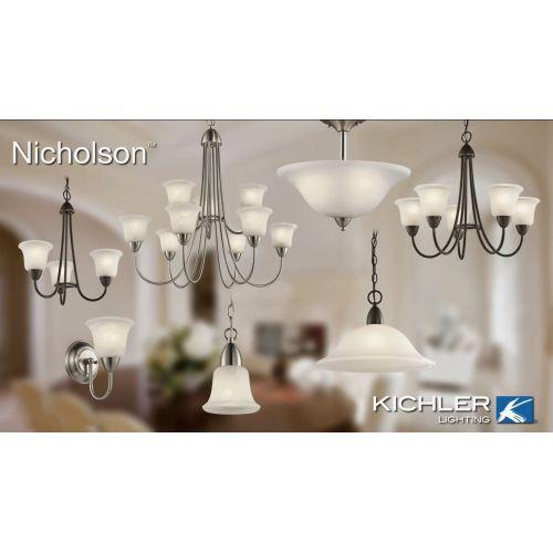 Kichler 42881 Nicholson Single-Bulb Indoor Pendant with Dome-Shaped