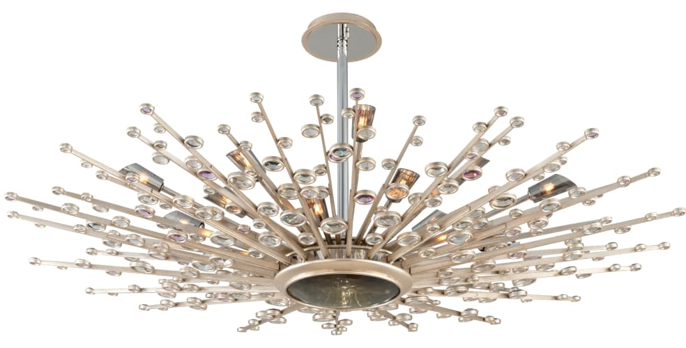 Corbett Lighting 183-420 Silver Leaf Big Bang Big Bang 21 Light