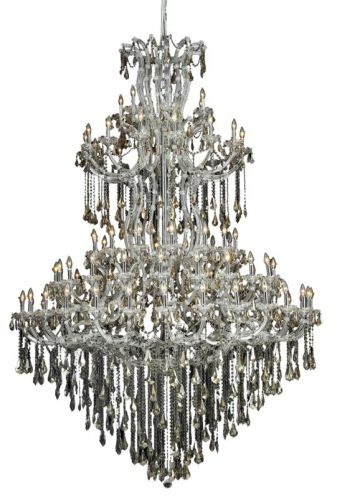 Elegant Lighting 2801G96C-GT/SS Swarovski Elements Smoky Golden Teak