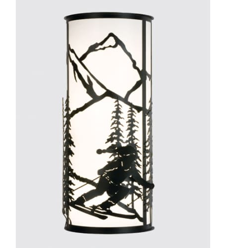 Meyda Tiffany 15427 Black  Craftsman / Mission Four Light Up Lighting