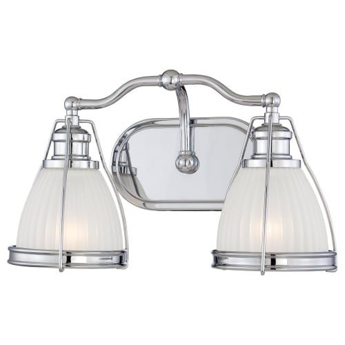 Minka Lavery 5792-77 Chrome  2 Light Bathroom Vanity Light with Bell