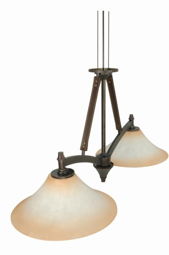Nuvo Lighting 60/1043 Golden Umber Viceroy Transitional Two Light Down Lighting Island / Billiard Fixture from the Viceroy Collection