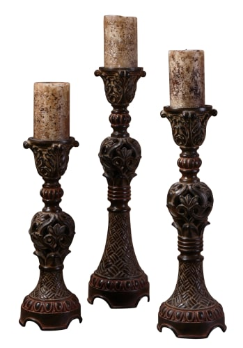 Uttermost 20312 Distressed Walnut Brown Billy Moon Rosina Set Of 3 image