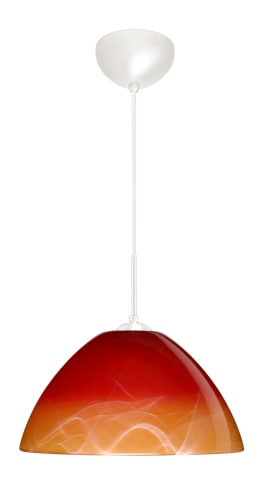 Besa Lighting 1VC-4202-W1-WH Pendant in Solare