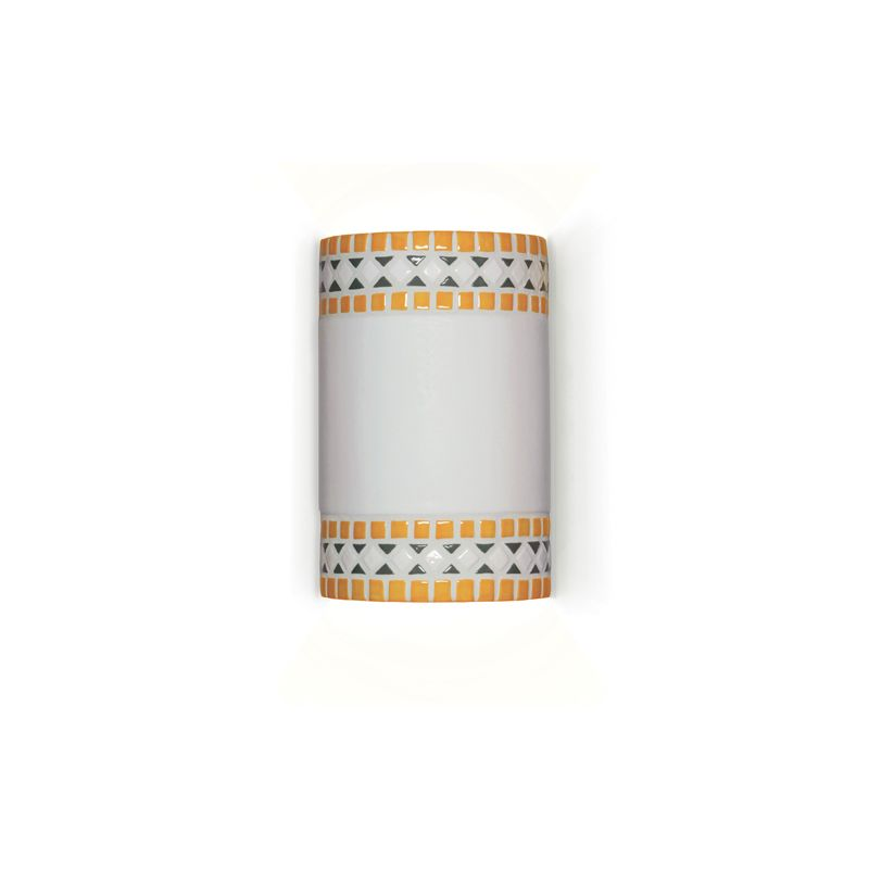 """A19 M20301 """"Borders"""" One Light Wall Sconce from the Mosaic Collection"""