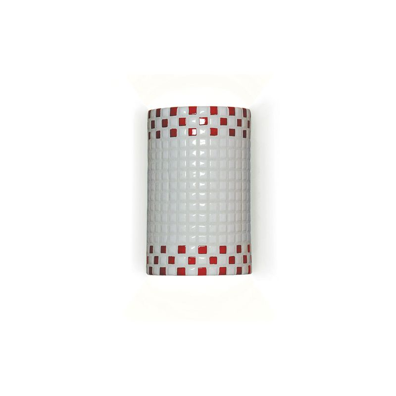 """A19 M20309 """"Checkers"""" One Light Wall Sconce from the Mosaic Collection"""