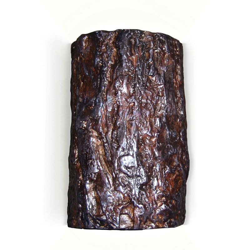 "A19 N20302 Wood Sconce Tree ""Bark"" Ceramic Light Fixture from the"