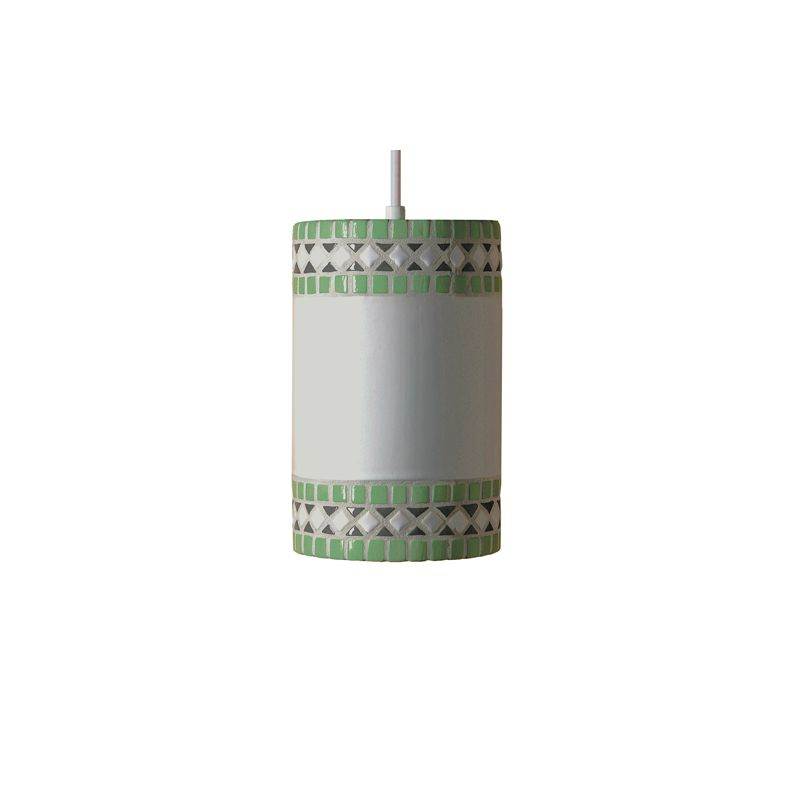 """A19 PM20301 """"Borders"""" Single Light Pendant from the Mosaic Collection"""