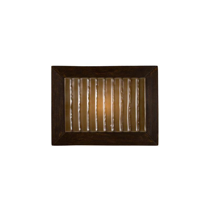 A19 RE104 Ripple 1 Light Wall Washer Sconce from the reFusion