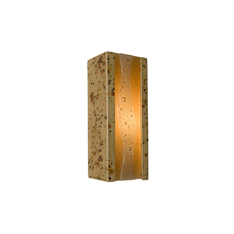 A19 RE116 Bubbly 1 Light Wall Washer Sconce from the reFusion