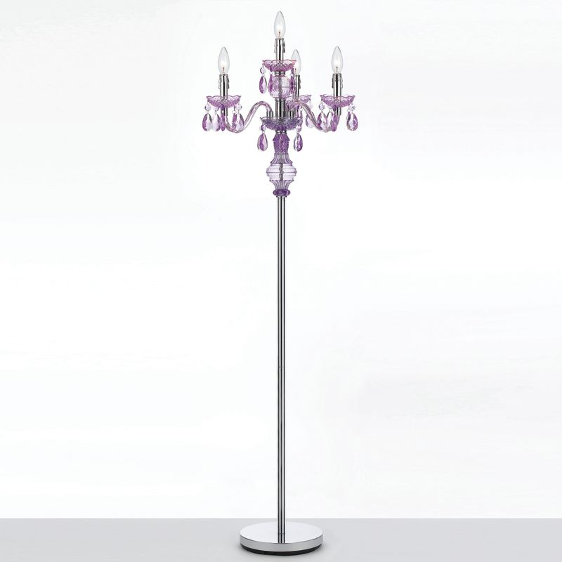 AF Lighting 8513 Purple Four Light Floor Lamp from the Angelo Home