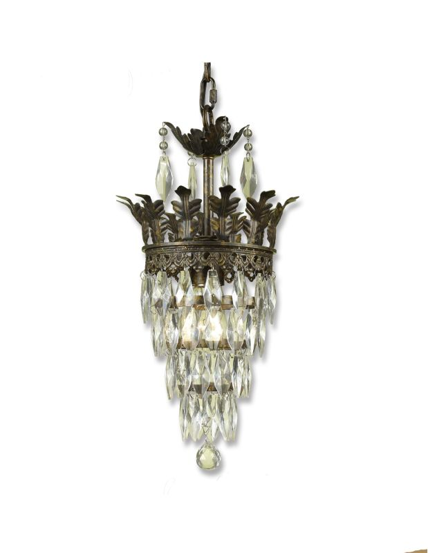 "AF Lighting 7507-1H Elements Series ""Sovereign"" Chandelier with Glass"