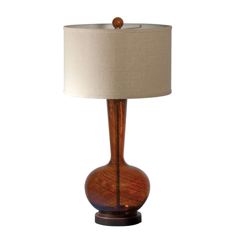 "AF Lighting 7637-TL Candice Olson ""Fitzgerald"" Glass Table Lamp with"