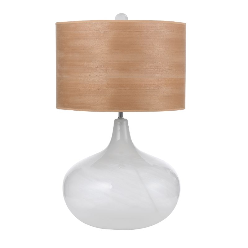 "AF Lighting 7933-TL Horizon Series ""Playa"" Glass Table Lamp with Wood"