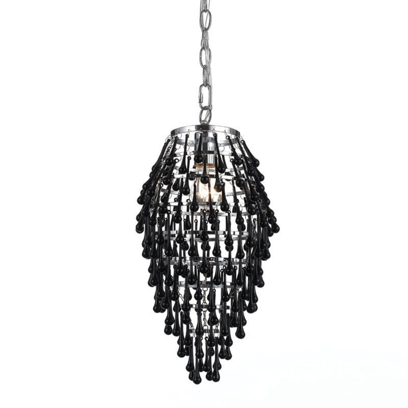 "AF Lighting 8123-1H Elements Series ""Crystal Teardrop"" Chandelier with"