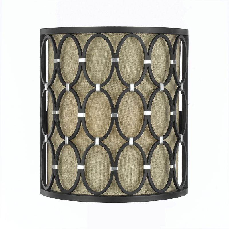 "AF Lighting 8219-2W Candice Olson ""Cosmo"" Wall Sconce with Cream Poly"