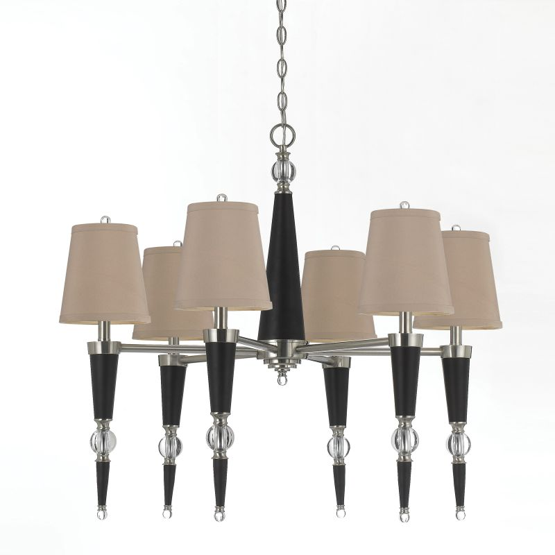 "AF Lighting 8235-6H Candice Olson ""Hollace"" Six-Light Chandelier with"