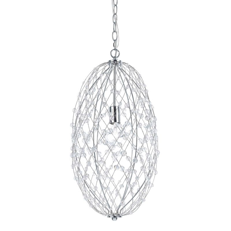 "AF Lighting 8287-1H Horizon Series ""Silver Web"" Elliptical Wire"