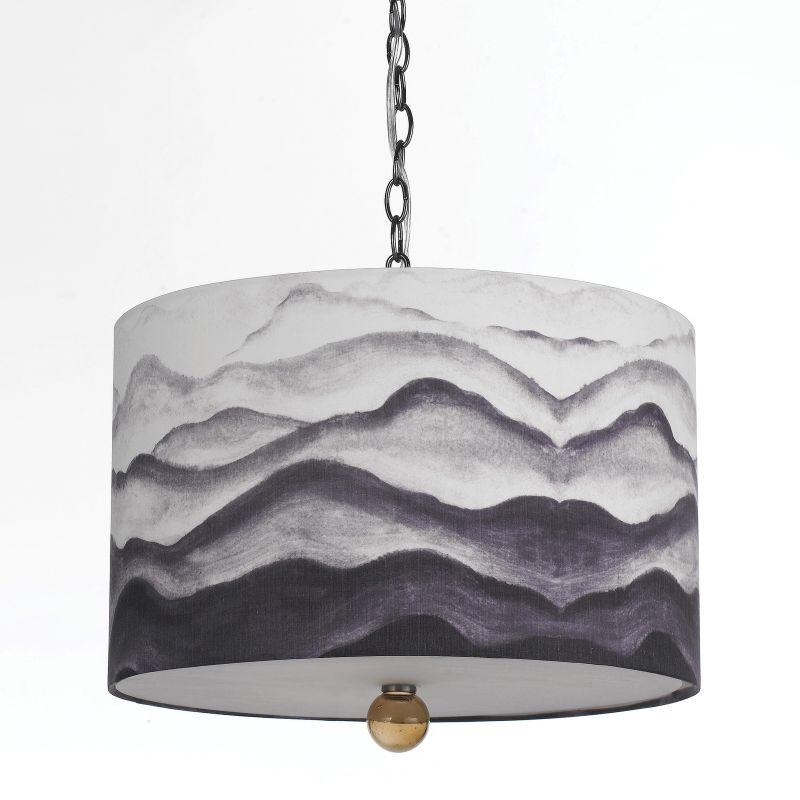 "AF Lighting 8322-3H Horizon Series ""Mountain Air"" Pendant with Gray /"