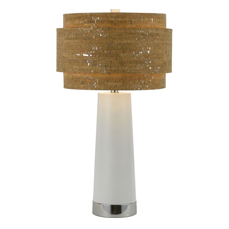 "AF Lighting 8402-TL Candice Olson ""Aviva Pearl"" Table Lamp with Silver"