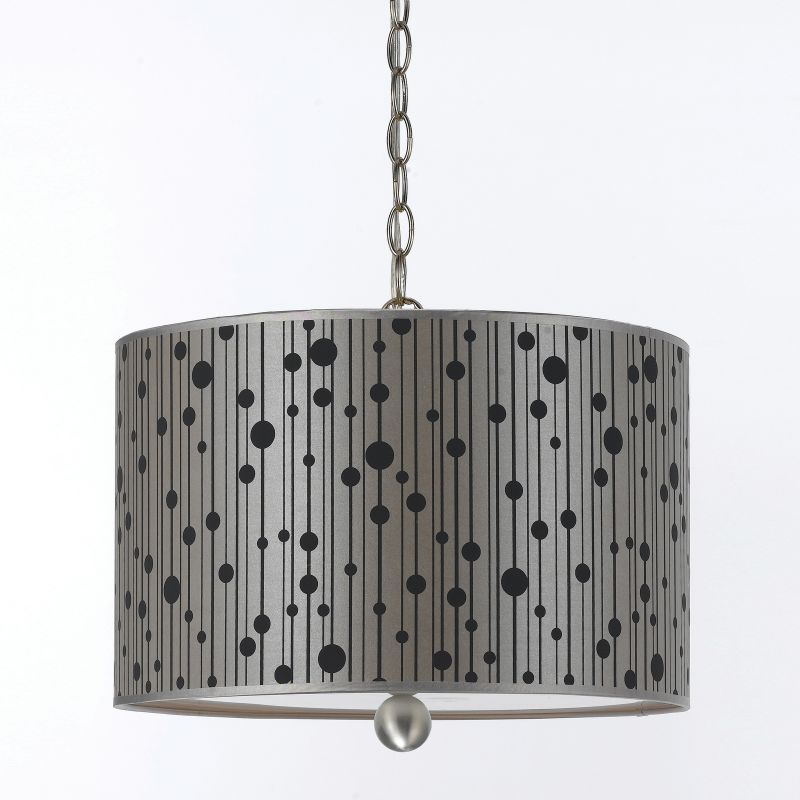"AF Lighting 8441-3H Candice Olson ""Drizzle"" Pendant with Grey Poly"