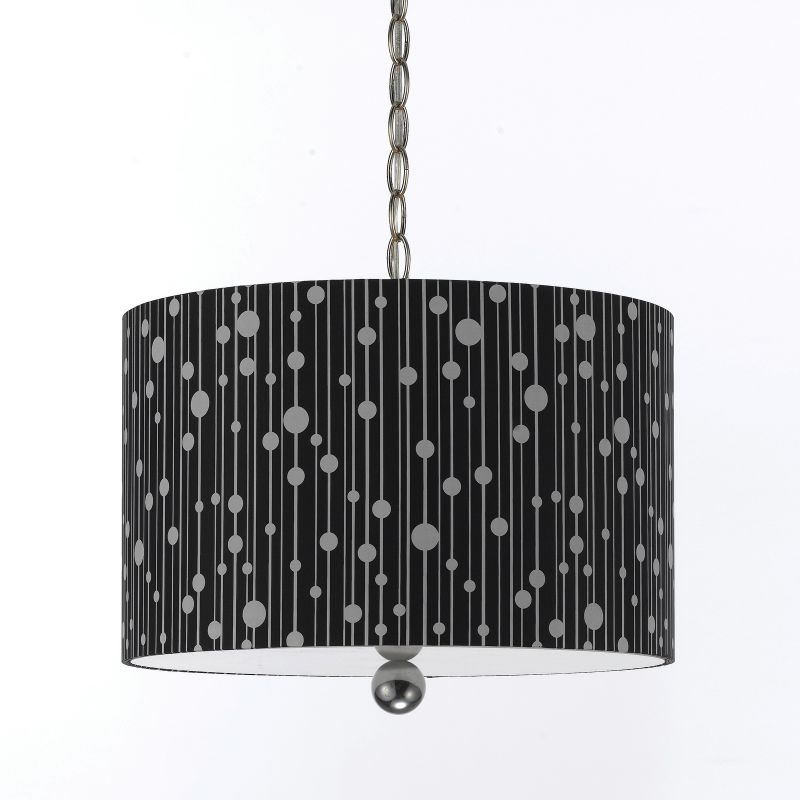 "AF Lighting 8442-3H Candice Olson ""Drizzle"" Pendant with Black Poly"