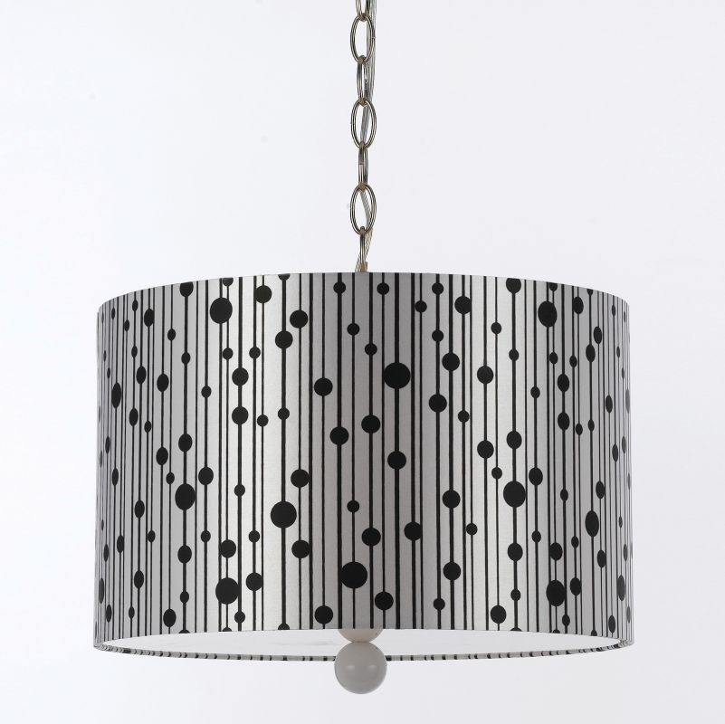 "AF Lighting 8443-3H Candice Olson ""Drizzle"" Pendant with White Poly"