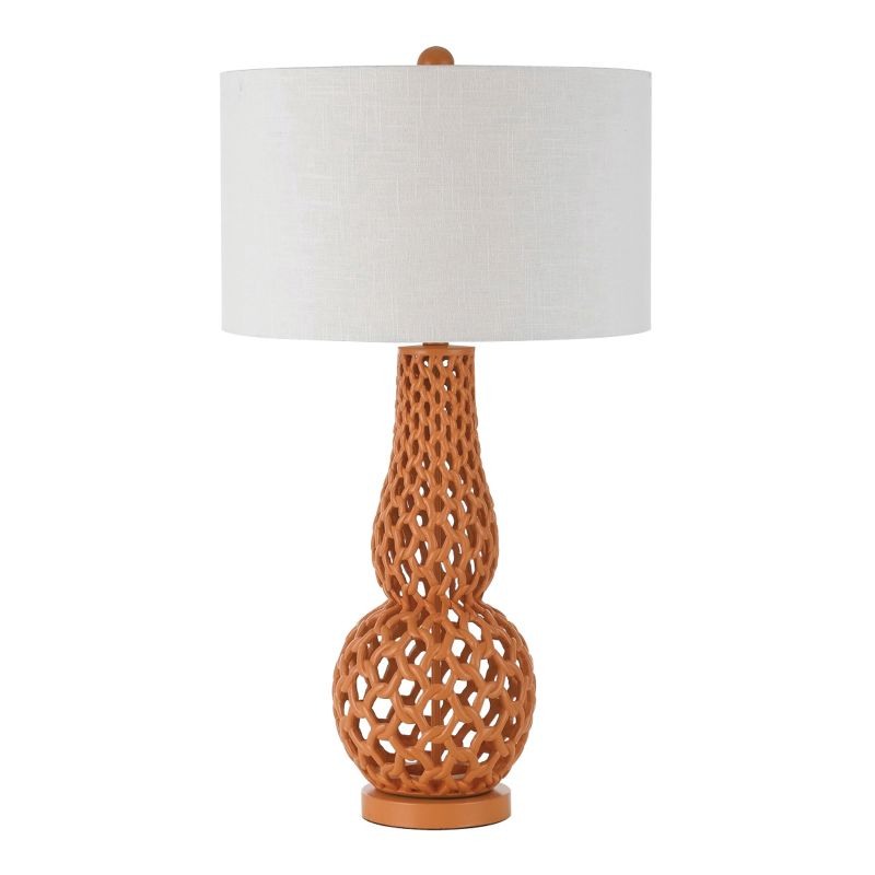 "AF Lighting 8486-TL Horizon Series ""Chain Link"" Table Lamp with Snow"