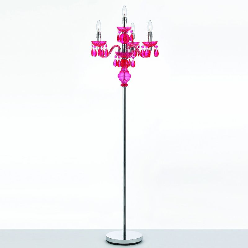 AF Lighting 8512 Hot Pink Four Light Floor Lamp from the Angelo Home