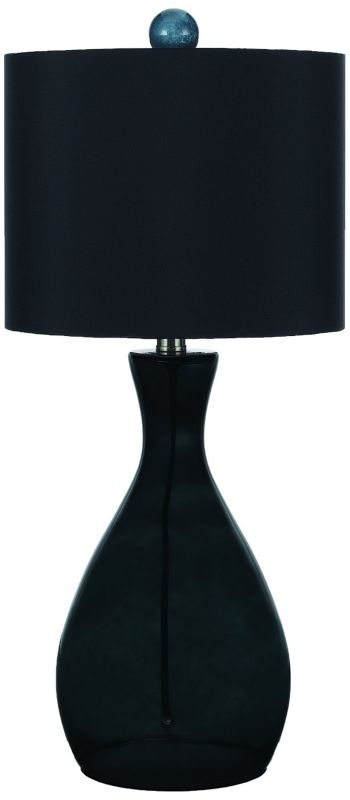AF Lighting 8517 Black Single Light Hand Blown Glass Table Lamp from