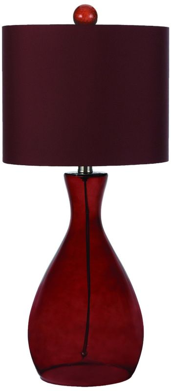 AF Lighting 8519 Red Single Light Hand Blown Glass Table Lamp from the