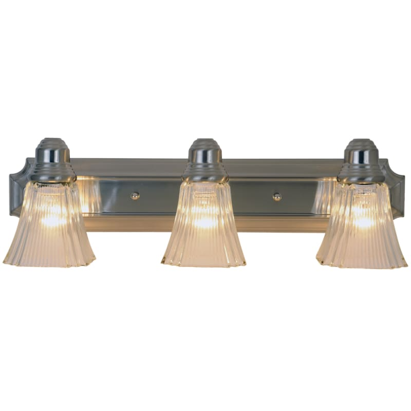 AF Lighting 617052 Brushed Nickel 3 Light Down Light Bath Vanity Fixture in Brushed Nickel with ...