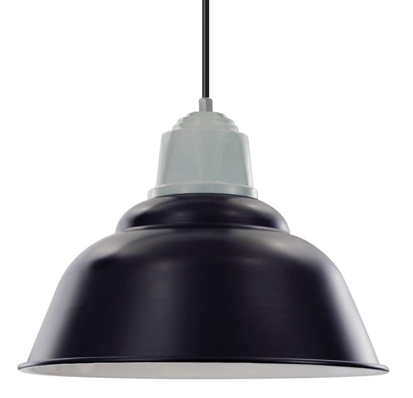 "ANP Lighting WDU516-BLCUE Retropolitan 16"" Wide Single Light Pendant"