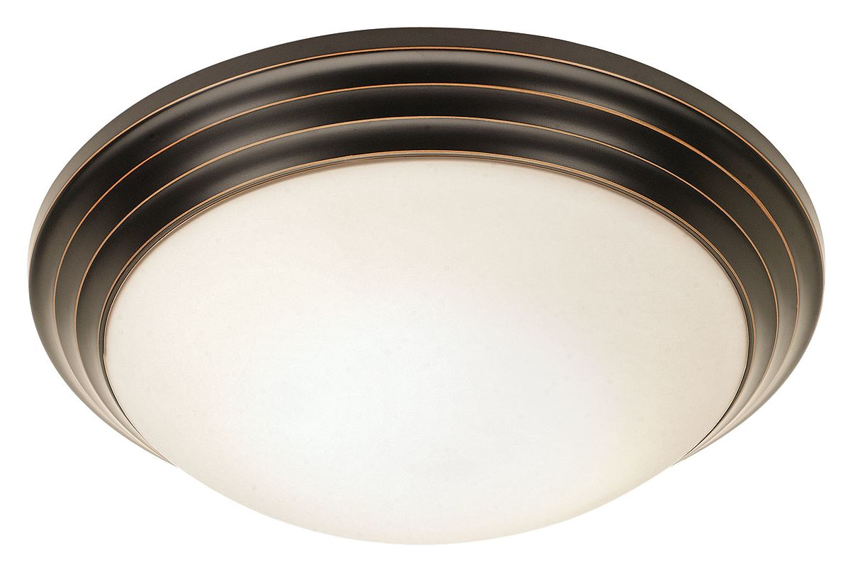 Access Lighting 20650 Strata 1 Light Flush Mount Ceiling Fixture Oil
