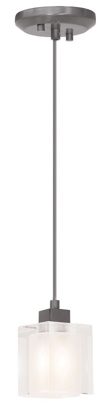 Access Lighting 23905 Astor 1 Light Mini Pendant Brushed Steel /