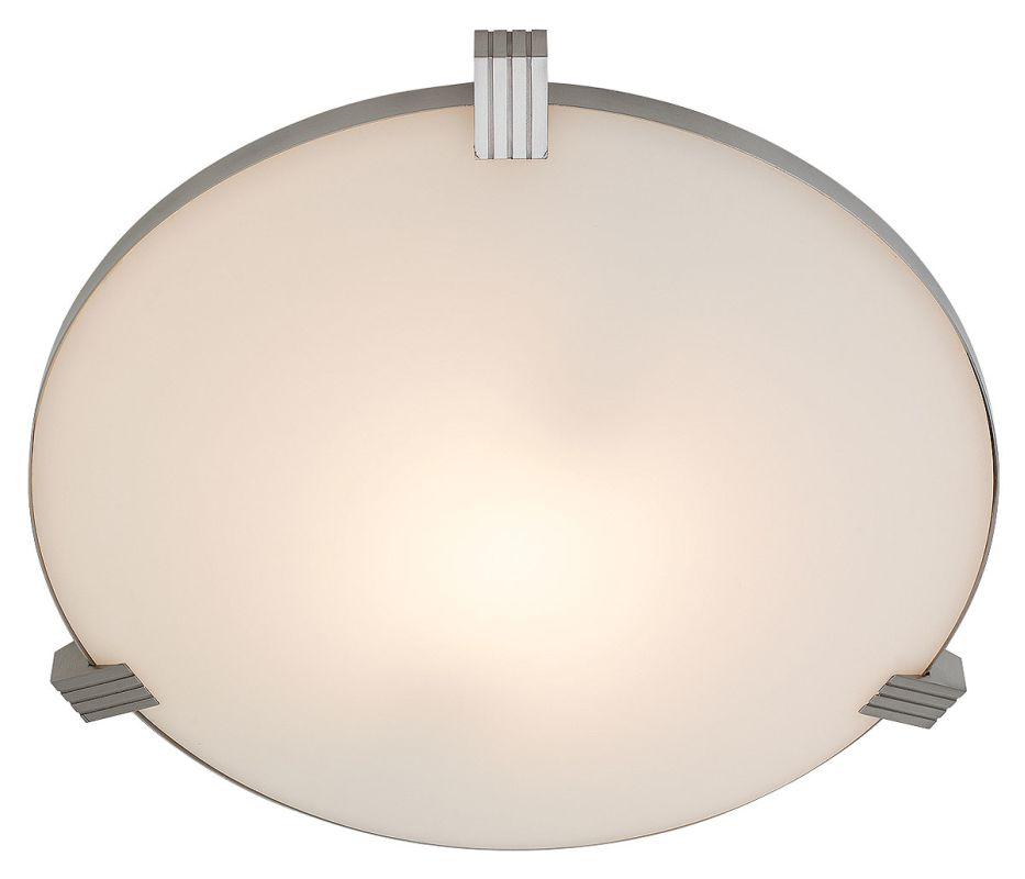 Access Lighting 50069 Luna 1 Light Flush Mount Ceiling Fixture Brushed