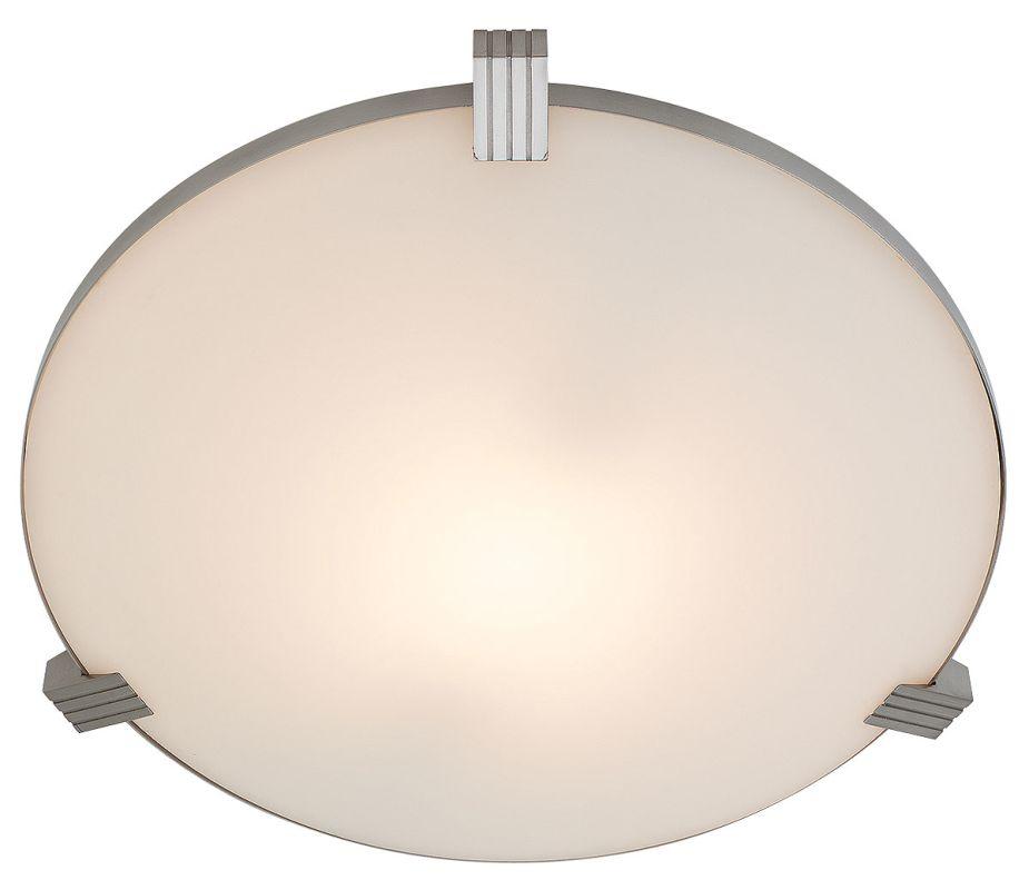 Access Lighting 50070 Luna 1 Light Flush Mount Ceiling Fixture Brushed