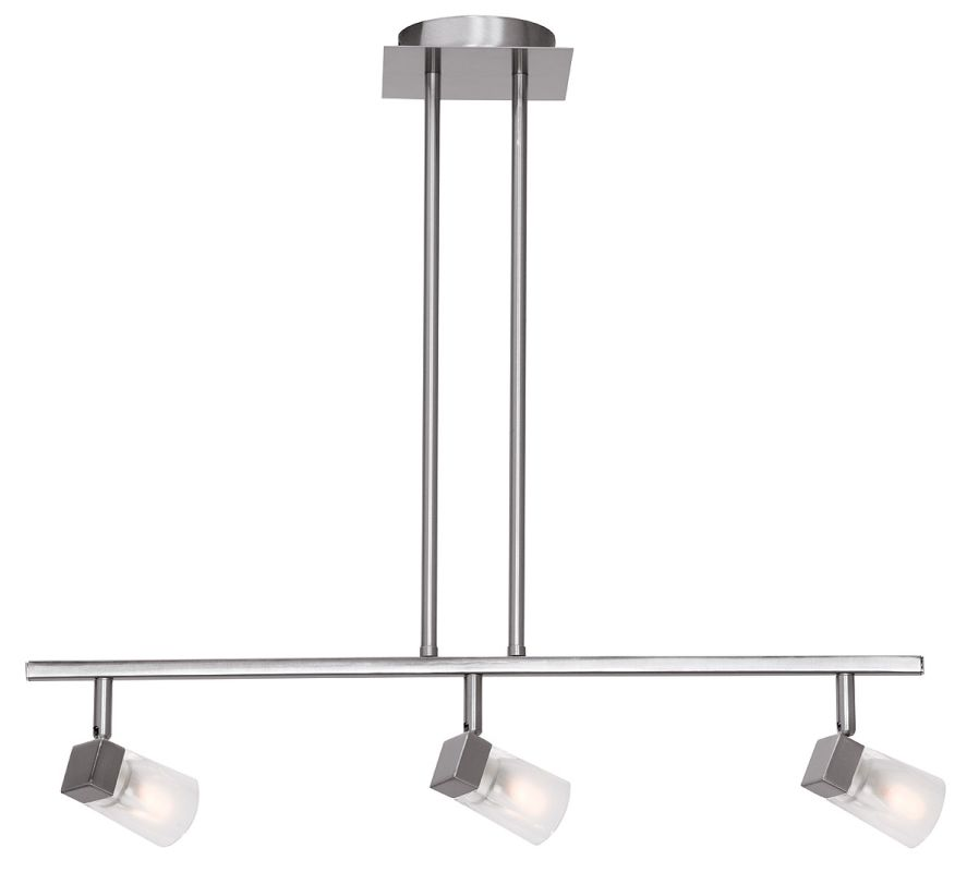 Access Lighting 52143-BS/FCL Steel Contemporary Ryan Ceiling Light