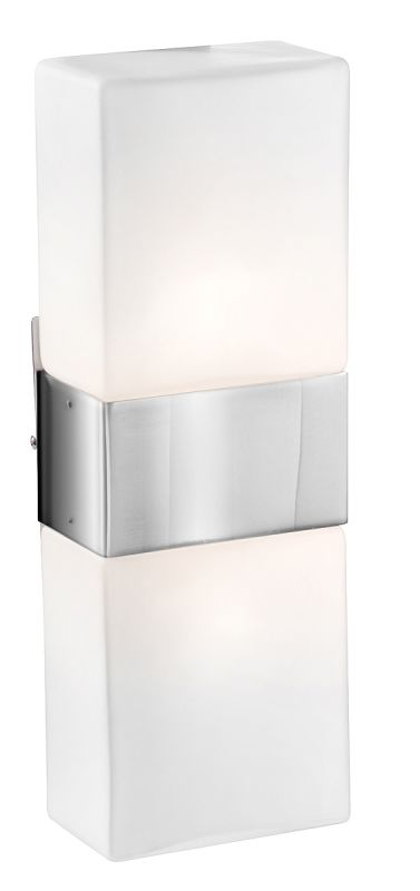 Access Lighting 62242 Nitros 2 Light Bathroom Sconce Brushed Steel