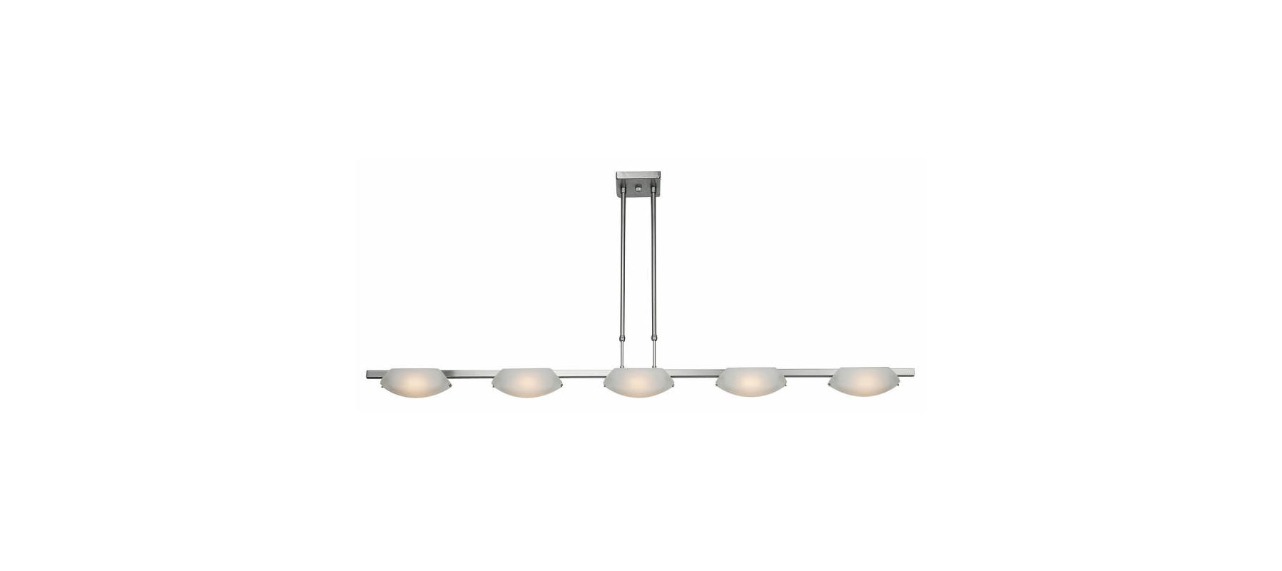 Access Lighting 63959 Nido 5 Light Linear Chandelier Matte Chrome /